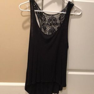 Black Tank with Lace Back
